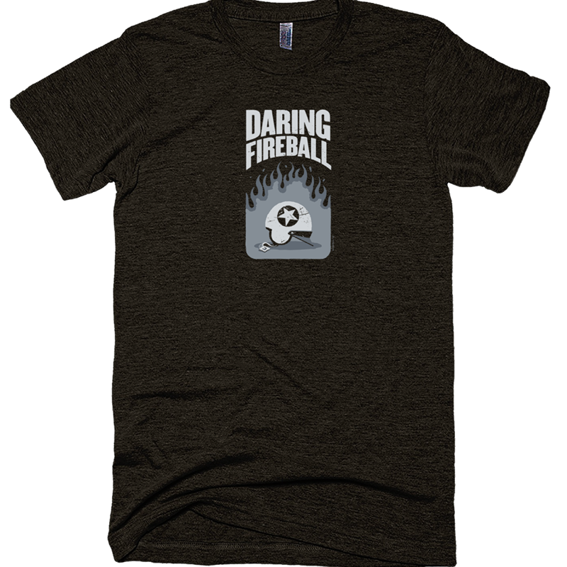 Thumbnail of an Daring Fireball 'helmet' shirt.