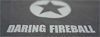 The classic Daring Fireball T-shirt