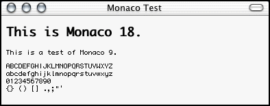 Screenshot of Monaco 9 in Camino.