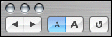 Screenshot of Safari using blue buttons with the graphite theme.