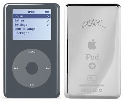 iPod Daring Fireball Special Edition, front and back.