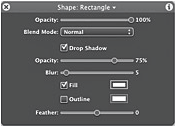 One of Motion's 'dashboard' palettes.