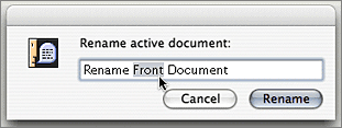 Screenshot of Rename Active Document Dialog