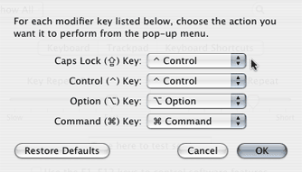 Modify the meaning of your modifier keys.