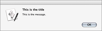 Screenshot of show_alert() output on Mac OS X 10.4