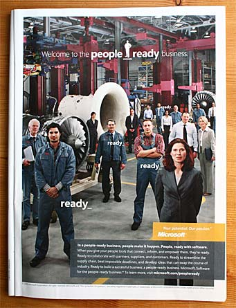 Microsoft 'people_ready' ad from p. 33 of the 22 May 2006 New Yorker.