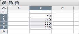 Multiple item selection in one column in Excel 2004
