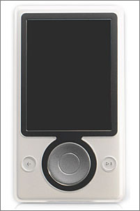 Prototype of Microsoft's upcoming Zune music player.