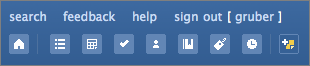 Stikkit's top-of-page icon toolbar