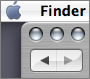 Back and Forward buttons in Finder browser windows.