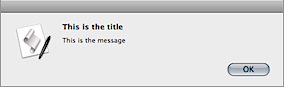 "Screenshot of the Standard Additions ""display alert"" dialog box."