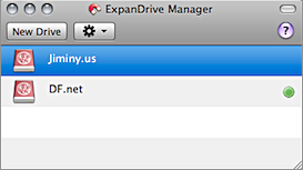 Screenshot of ExpanDrive Manager window.