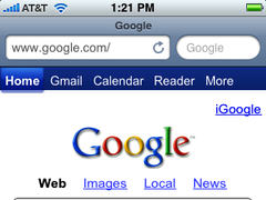 Screenshot of toolbar from Safari in iPhone OS 2.2.