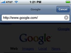 Screenshot of toolbar from Safari in iPhone OS 2.2 while in editing mode.