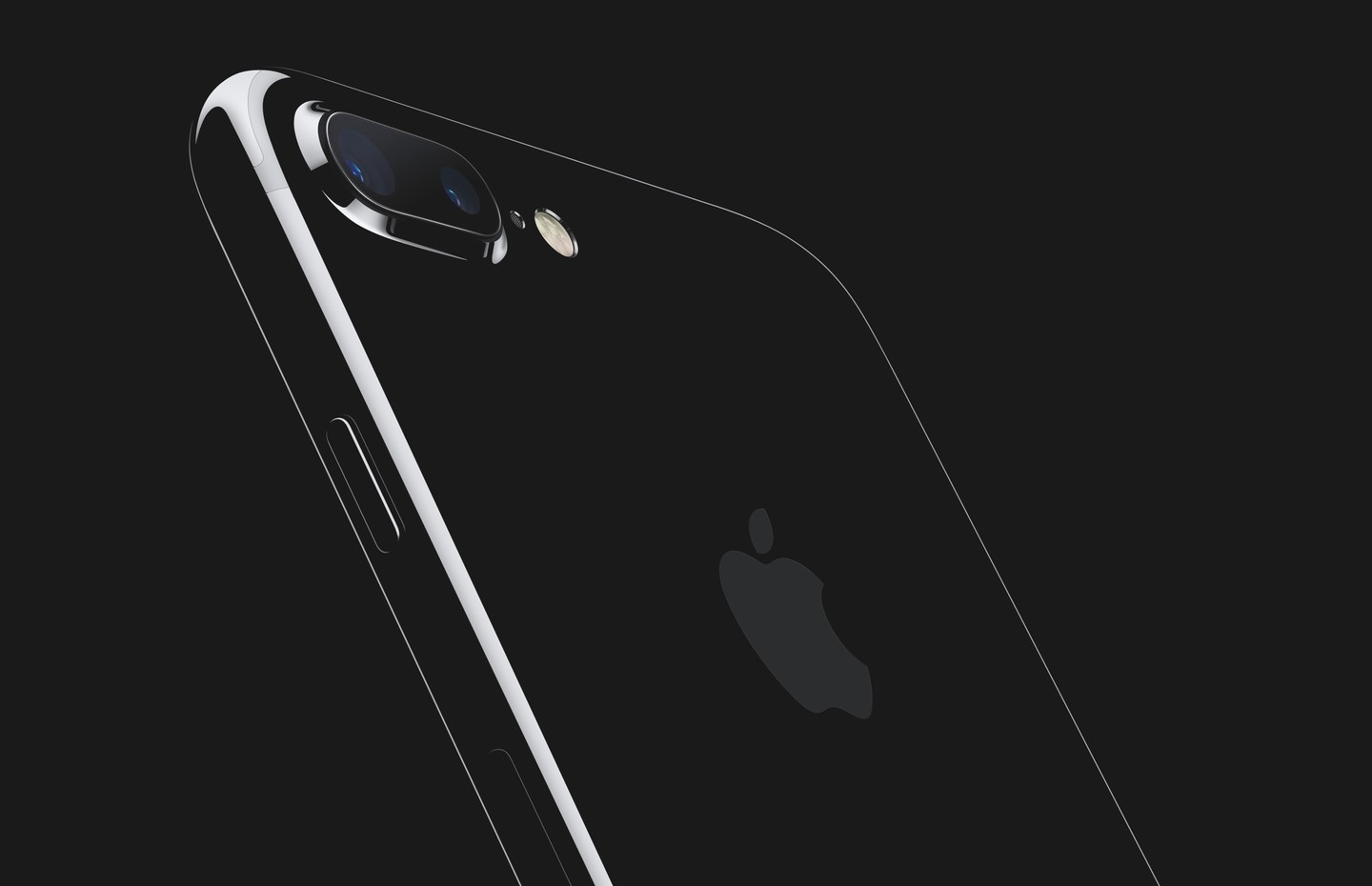 Apple promotional photo of a jet back iPhone 7 Plus.