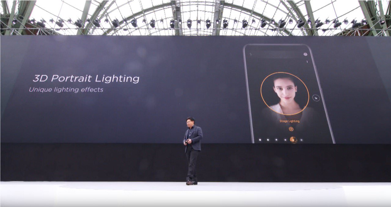 Huawei didn't just copy the feature — they copied Apple's UI almost to a T.  (Apple uses a 3D wireframe cube to indicate the currently selected lighting  ...