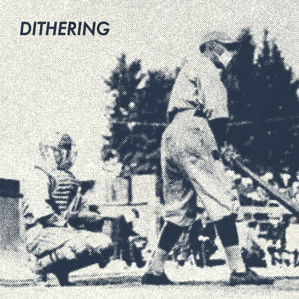 July 2020 cover art for Dithering, depicting a baseball player in 1918 wearing a face mask while at the plate.