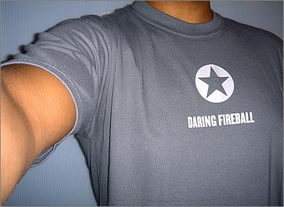 Photograph of Daring Fireball T-shirt